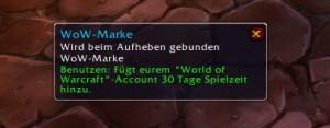 WoW-Marke Spielzeit